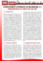 Enseignement supérieur et recherche: propositions du Front de Gauche (Orsay)