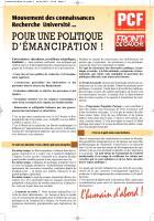 Mouvement des connaissances, Recherche, Université: pour une politique d'émancipation (PCF Bouches-du-Rhône)